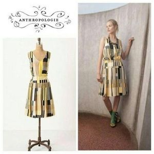 EUC Maeve Anthropologie Silk Otta Check Dress